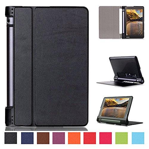 Kepuch Custer Lenovo Yoga Tab 3 8.0 850F Hülle - Shell Schutzhülle PU Tasche Smart Case Cover für Lenovo Yoga Tab 3 8.0 850F - Schwarz
