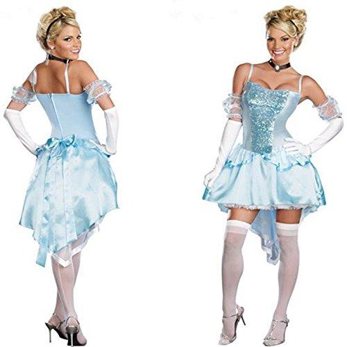 DLucc Halloween-Kostüme Schneewittchen Fee Kostüm Cinderella Sleeping Beauty Queen