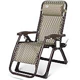 ZHANGRONG-Tumbonas-- Silla reclinable Silla plegable Pausa para el almuerzo en la oficina Ocio Inicio Lazy Beach Chair Sofá perezoso (color opcional) --Aplicable a interiores y exteriores ( Color : #1 )