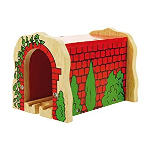 Bigjigs Rail Wooden Red Brick Tunnel for Train Set