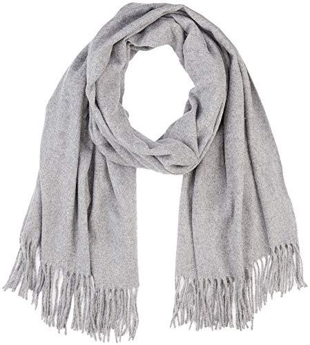 VERO MODA Damen Schal VMANA Wool Long Scarf NOOS, Grau Medium Grey Melange, One Size