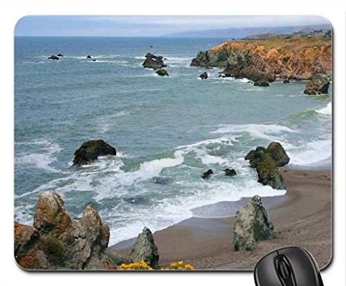 (der Strand Thema Gaming Mouse Pad, schulgebäude Beach Bodega - Bay - Carl.Mousepad, Mousepads.)
