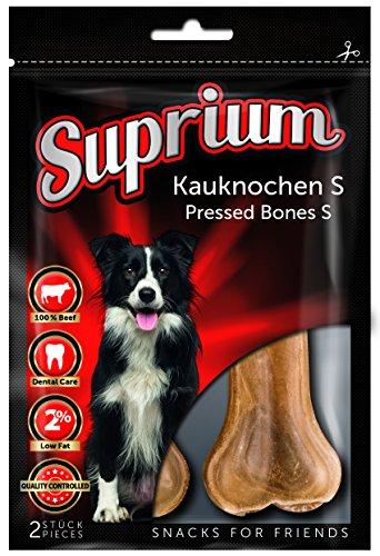 Suprium Kauknochen XXL Premium Hundesnack Leckerli Zahnpflege Hundeknochen Rind für große Hunde, 8er Pack (8 x 340 g)