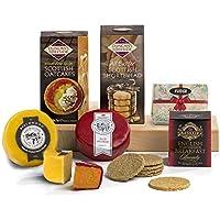 Hay Hampers, Die Besten Britischen Leckereien, ein Portwein und Brandy infundierter Cheddar Käse und ein reif würziger Bauernhaus Cheddar für einen leckeren Käse Abend