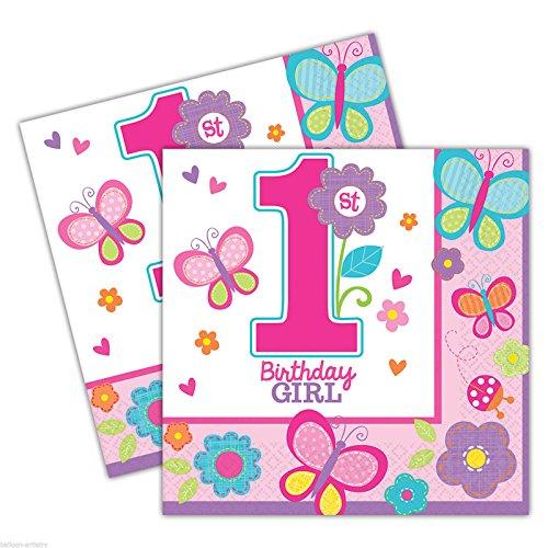 amscan Sweet Mädchen ersten Geburtstag Servietten
