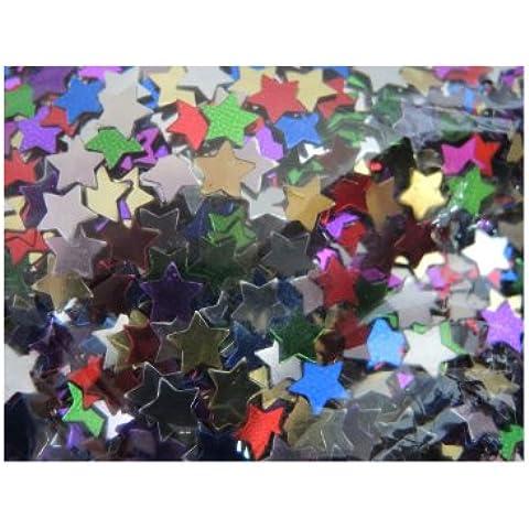 EFCO–Stelle Paillettes, in plastica, colori assortiti, 6mm, 20g