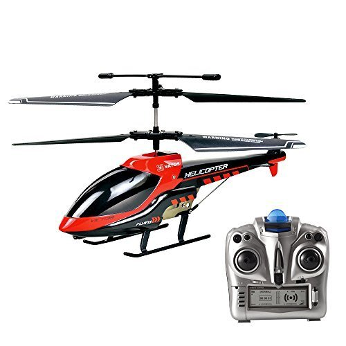 VATOS RC Helicopter, Remote Control Helicopter Indoor 3.5 Channels Hobby Mini RC Flying Helicopter 2 Blades Replace Included RC Plane Toy Gift for Kids Crash Resistance Consistent?Built-in Gyro