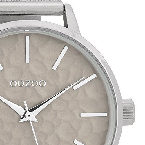 Fashion Oozoo Damenuhr mit Design Ziffernblatt und Metallband 42 MM