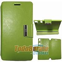 Todobarato24h Funda Libro Soporte Verde Fnac Phablet 6 Pulgadas BQ aquaris E6 FHD HD