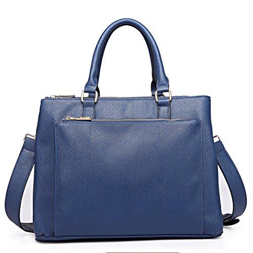e Handtasche Damen Bürotasche Unitasche mit Schultergurt Business Vintage Elegant ()
