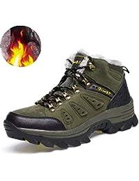 Arrampicata Scarpe da Trekking Uomo Invernali Stivali Scarponi da Neve  Pelliccia Stivaletti Pelle Impermeabile Caldo Boots d2ab9b7148d