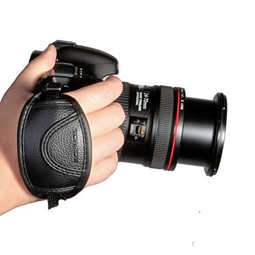 Prost Leder Handschlaufe für Canon EOS T5i T4i T3i 60D 70D 5D Nikon D7200 D7000 D600 D800 D90 D5200 D3100 Sony Olympus SLR/DSLR Leder Handschlaufe