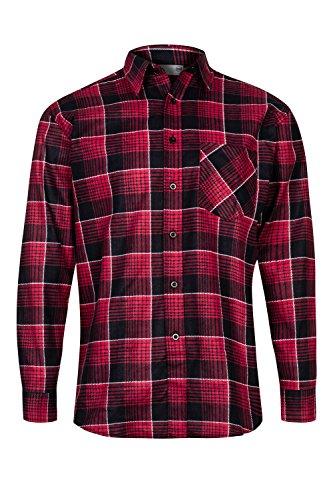 MAX PRO Herren Flanell-Hemd Arbeitshemd 100% Baumwolle Rot Gr. S/40 MP1011_S