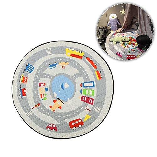 Preisvergleich Produktbild Kinder Picknick rund kriechen Teppich Spielzeug Organisator Speicher-Spielen Tasche Tier-Comic Baumwolle rutschfest Spielmatte Spiel, mit Kordel für Kammer der Kinder