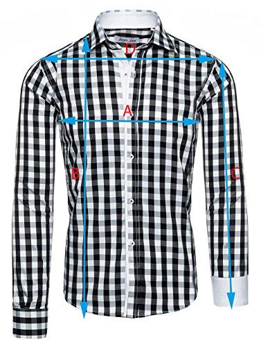 Lorenzo Loren -  Camicia Casual  - Con bottoni  - Uomo Hellblau