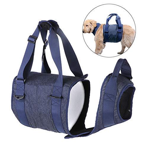 Tragehilfe für Hunde, Hunde Gehhilfe Hundegeschirr Hunde Rehahilfe Weste Verstellbarer Brustgeschirr Tragehilfe für Hunde Zurück Beine Pet Rehabilitation Assist (S)
