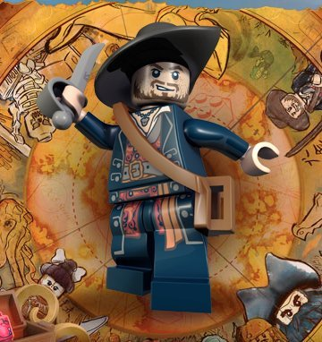 LEGO Fluch der Karibik / Pirates of the Caribbean - Minifigur Hector Barbossa mit Säbel und goldenem Kelch (Karibik Fluch Zubehör Der)