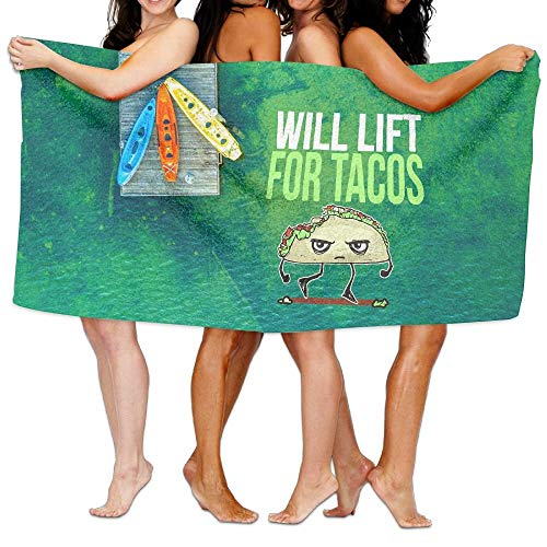 Aqua Lift Bad (Novelcustom Will Lift for Tacos Over-Sized Cotton Batch Towel 80x130cm/31.5x51.2inches)