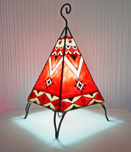 painted-moroccan-henna-table-lamp-pyramid-red-38-cm-january-offer-only