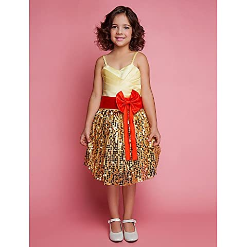 ZY/ Ball Gown spaghetti straps knee-lunghezza Satin