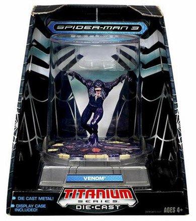 Spiderman 3 Marvel Figurine Titanium Series Die Cast Venom