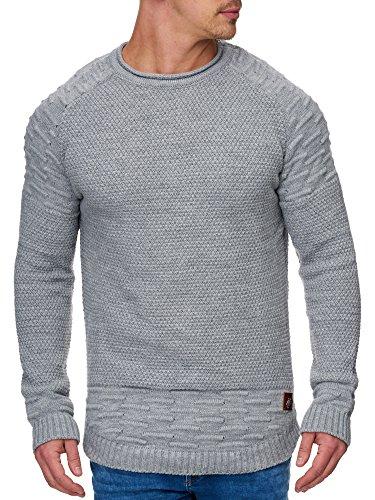 TAZZIO Herren Styler Strick-Pullover 16479 Grau