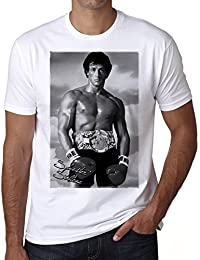 Sylvester Stallone Rocky : T-shirt,cadeau,Homme,Blanc,t shirt homme