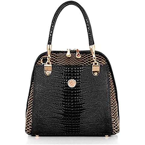 Realer borsetta frizione borsa con sacchetti di Tote maniglie cinturino in pelle con chiusura lampo per le donne