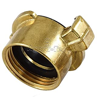 Agora-Tec Brass Quick-Action Coupling 1 Inch (30.3 MM Internal Thread with Flat Seal Coupling with Quick-Release Fastener