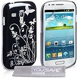Yousave Accessories SA-EA01-Z962 Housse pour Samsung Galaxy S3 mini (i8190) Noir/Argent