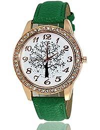 nouler Reloj De Cuero Regalo Pareja Moda Fiesta Exquisita Festival,Verde,Un tamaño