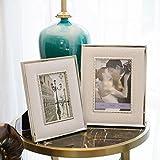Glas Bilderrahmen, Metall Bilderrahmen, Leder Bilderrahmen, Schlafzimmer, Nachttisch, Wohnzimmer, Arbeitszimmer, 2er Pack ( Color : A )