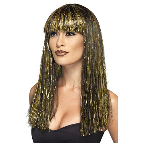 NEU Perücke Ägyptische Göttin, (Cleopatra Schwarze Göttin Perücke)