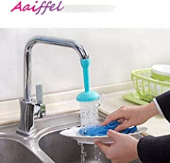 Aaiffel Flexible Faucet Nozzle Water Filter Tap Aerator Diffuser Kitchen Connector Accessories, Small (Random Colour)