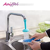 #8: Aaiffel Flexible Faucet Nozzle Water Filter Adapter Water Purifier Saving Tap Aerator Diffuser Kitchen Connector Accessories - Random Color
