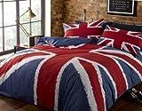 Union Jack Rot Weiß Blau King Größe Baumwolle Bettwäsche Set Bettbezug #KJINU *RH*