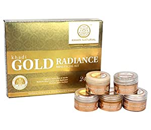 Khadi Natural Gold Radiance Mini Facial Kit, 75g