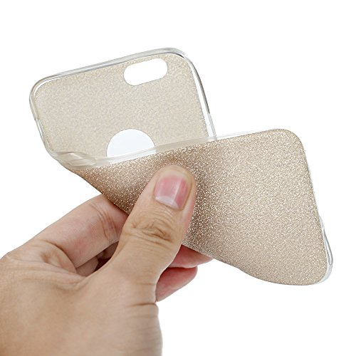 MAXFE.CO 2×TPU Silikon Hülle für iPhone 5 Handyhülle Schale Etui Protective Case Cover Rück mit Bunte Muster Design (Rose gold + Richie Gold)+ 1 x Stöpsel Staubschutz + 1 x Eingabestift Richie Gold + Rosé-gold