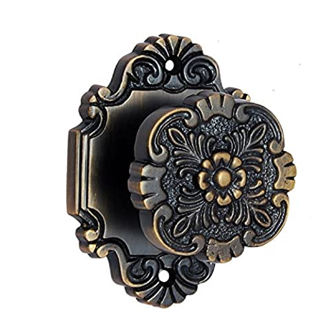 Adonai Hardware Cephas Brass Door Knob with Rose (Antique Brass)