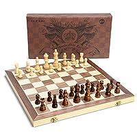 OUNUO-Schachspiel-aus-Holz-handgefertigt-Hochwertiges-Schachbrett-aus-Echtholz-magnetisch-Wooden-Chess-Set-Holz-3939