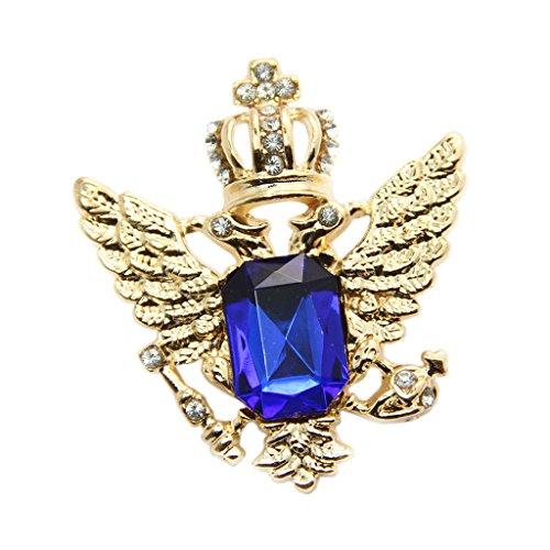 Vintage Brosche Anstecknadel Kragen Broschen Herren-Brosche Schmuck - Blau Gold