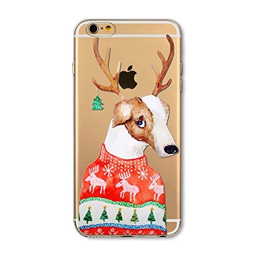 iPhone 7 Cover Xmas,iPhone 7 Custodia Silicone,TPU Gel Protettivo Shell Case Cover per 4.7 Apple iPhone 7/iPhone 8 Merry Christmas Natale Slim Sottile Crystal Clear Silicone Morbido Gel Anti-graffio  Xmas 15