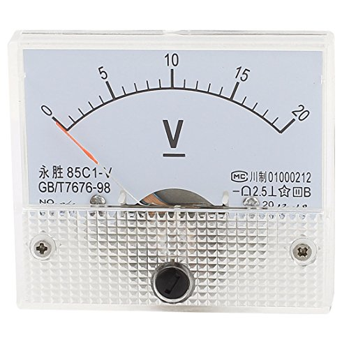 sourcing map 85C1-V Panel DC Voltmeter Analog Spannungs Messgerät 0-20V de DE de Dc Analog Voltmeter-panel