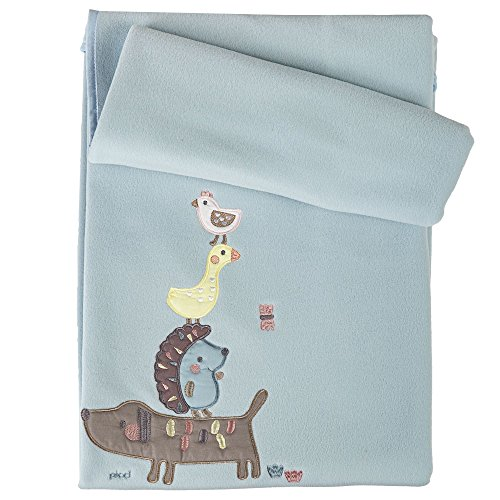 Picci Decke für Kinderbett Fleece Kollektion Ringo hellblau pc64 C1231