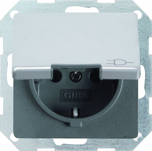 Price comparison product image GIRA 0454203 SCHUKO socket lid Attachment Stainless Steel