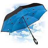 Paraguas Invertido. Paraguas Inverso Original Reversible de Colores de Mujer y Hombre Antiviento...