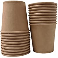 Lot de 100 gobelets jetables 10 cl en carton kraft recyclable pour boissons froides et chaudes - Idéal en entreprises…