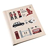 Arpan Large London Icons Design Travel Self Adhesive Photo Album 20/Sheet 40/Sides by ARPAN