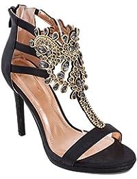 Toocool - Scarpe Donna Gioiello Decollete Sandali Eleganti Strass Sexy  Tacchi PL808-72 008395f7993
