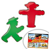 Ohrstecker Paar rot u. grün Ampelmännchen | GRATIS DDR Geschenkkarte | DDR Produkte | Geschenkidee für alle Ostalgiker aus Ostdeutschland | Ossi Produkte